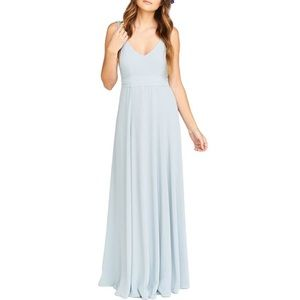 Jen Maxi Gown SHOW ME YOUR MUMU in Steel Blue